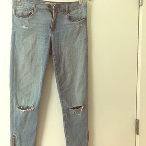 Banana Republic Distressed Straight Leg Jeans